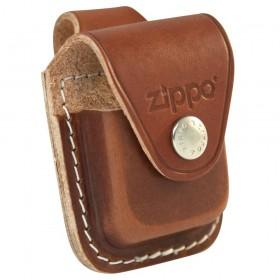 Etui Zippo en cuir marron