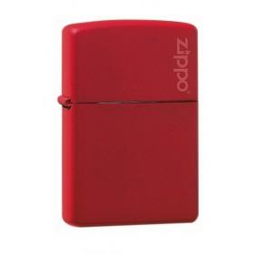 Zippo Rouge Mat avec Logo Zippo