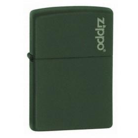 Zippo Vert Mat avec Logo Zippo
