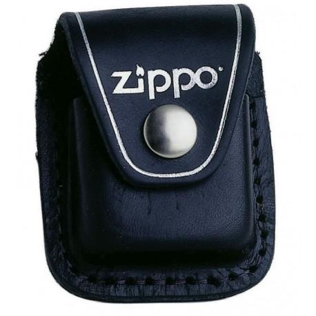 Etui Zippo en cuir noir
