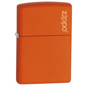 Zippo Orange Mat avec Logo Zippo