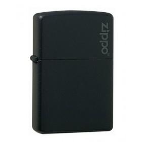 Zippo Noir Mat avec Logo Zippo