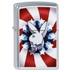 Zippo PlayBoy Red White Blue